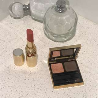 YSL LIPSTICK & EYE QUAD AUTHENTIC BOTH PRODUCTS FOR $25