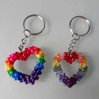 Beads Heart Shape keychain