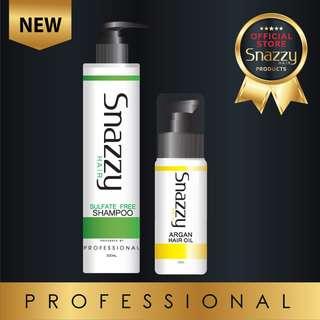 1 Bottle Snazzy Sulfate Free Shampoo , Argan Oil