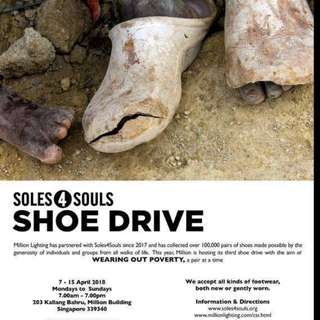 Community awareness Drive - donate your old shoes for a good cause