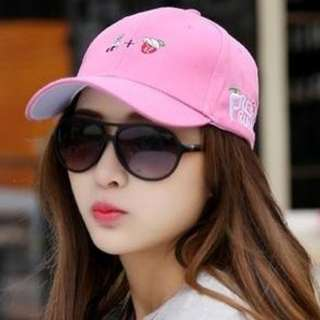 BRAND NEW PINK CAP, KOREAN TREND (READY STOCK)