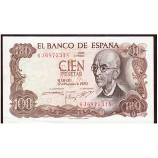 1970年西班牙紙幣