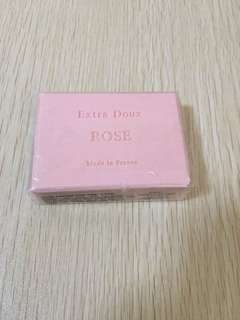 Rose soap bar from France