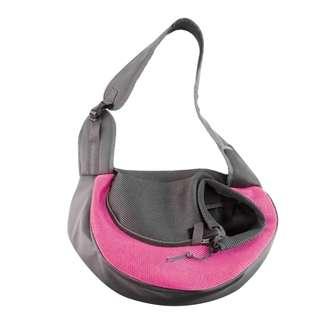 Pet Dog Cat Travel Carrier Sling Bag (Pink)