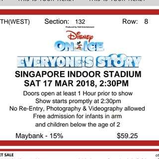 Disney on Ice Ticket X 1