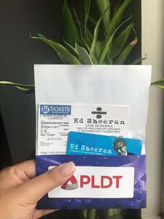 Ed Sheeran Concert Ticket Patron A!!!