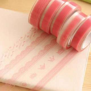 massmall Decorative DIY Tape Washi Rainbow Candy Color Sticky Paper Masking Adhesive Tape Scrapbooking &Phone DIY Decoration 40xRoll