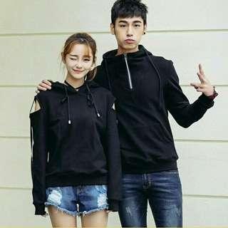 Couple black hoodie