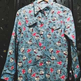 Hello Kitty Denim Button Down Shirt