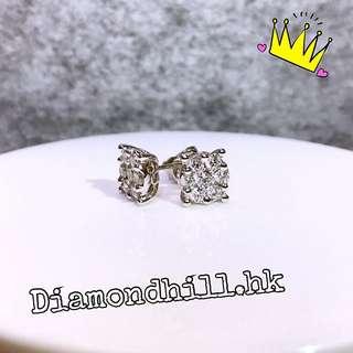 18k金 鑽石耳環