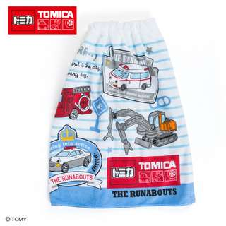 Japan Sanrio Tomica x The Runabouts Wrap Towel (patch) 60 cm