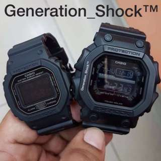 COUPLE SET in CASIO GSHOCK DIVER GKING SET : 1-YEAR OFFICIAL VALID WARRANTY: Originally Authentic G-SHOCK Resistant In Deep Black Stealth Matt ABSOLUTE TOUGHNESS Best Gift for Most Rough Users : GX-56BB-1DR & DW-5600MS-1DR