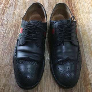 Sepatu Shoes Gucci Lace-up with Bee Web Original Preloved Made in Italy