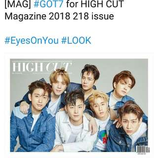P.O GOT7 HIGH CUT MAGAZINE