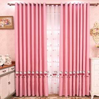 Hello Kitty Curtain (2pcs)100×280cm(Preorder)Free Delivery