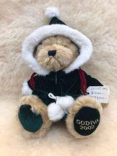 """Vintage 2002 Godiva Bear ( 10"""" Inch )"""