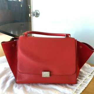 "Celine 95% new Trapeze Bag Medium 12"" x 9"" x 7"""