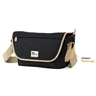 Lowepro Urban+ Messenger Camera Bag (Black & Blue)