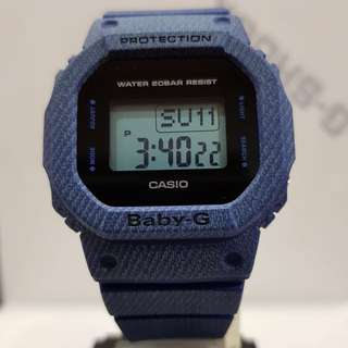 NEW ARRIVAL CASIO BABYG DIVER SPORTS WATCH : 1-YEAR OFFICIAL WARRANTY: 100% Originally Authentic BABY-G-SHOCK Resistant In DENIM BLUE 3D JEANS SUPER ILLUMINATOR LIGHT WATCH Best Gift For Most Rough Users & Unisex: BGD-560DE / BGD560DE / BGD560 / BGD560
