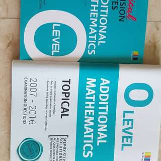 O level revision notes and tys for add mathematics