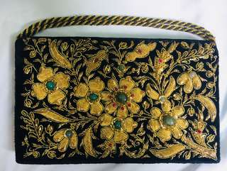 Embroidered clutch!! Handwoven!