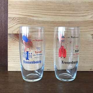 *VINTAGE Pair of Kronenbourg Glasses*