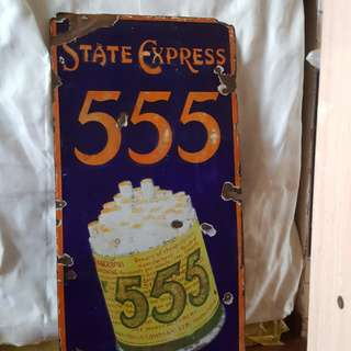 State Express 555 Enamal sign