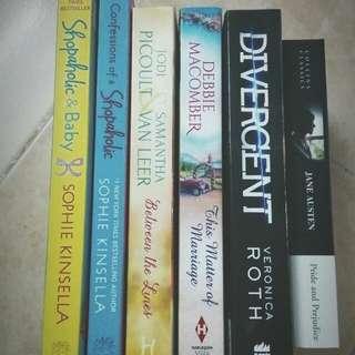 Shopaholic, Divergent, Jane Austen