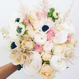 Designer secret garden bridal bouquet