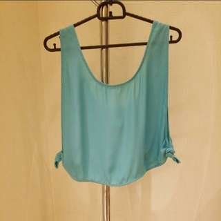 finderskeepers turquoise tank top