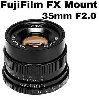 7Artisans 35mm F2.0 for Fuji FX Mount