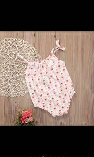 Summer flamingo romper infant newborn toddler baby girl