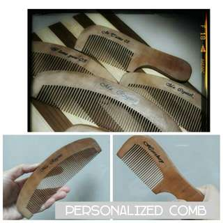 Personalized wooden comb / brush