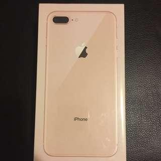 全新未開封 iPhone 8 Plus Gold 256GB