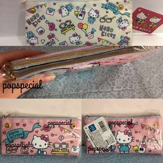 Last SET Left Hello Kitty 2 sided Double Zip Reversible Pouch