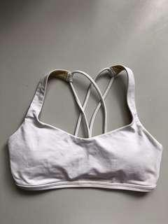 Lululemon Sports Bra white size 2