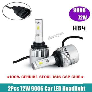 HB4 9006 CSP Led Headlight   ★Car Van Fog / Headlight Usage  ★100% Genuine Seoul 1616     CSP Chip 2 Sided x 12 Leds      ★Ultra Bright      Built-in Driver + Constant Current   ★Mini Size      Plug & Play  ★6.5k White      4000 lm Per Bulb 36w   In Stock