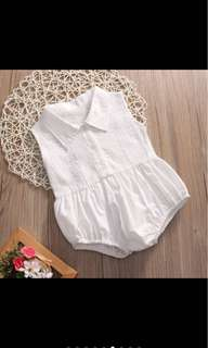 Baby girl lace romper white infant newborn toddler jumpsuit