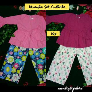 "Baju Set Cantiq ""Khayla"" For ,8y,10y"