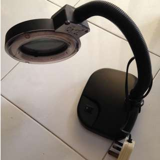 Table Lamp with Magnifying Glass