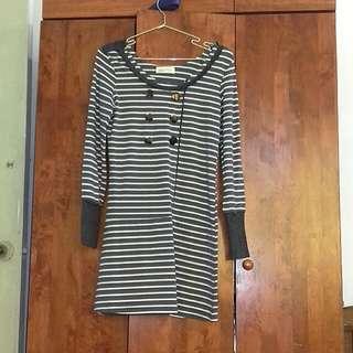 Long Sleeved Stripe Dress #Bajet20