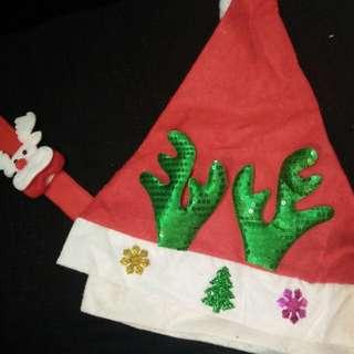Christmas hats & hand cuff
