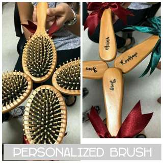 Laser printed personalized hair brush wedding souvenir