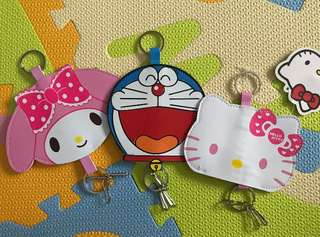 Doraemon, HK & Melody Key Holder