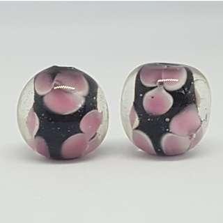 Lampwork Glass Beads (1 pair)
