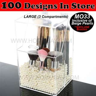 Acrylic Make Up Makeup Brush Brushes Cosmetic Organiser Organizer Storage Box Holder