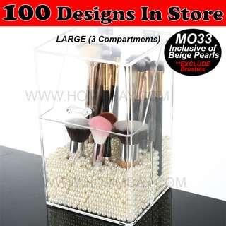 Acrylic Make Up Makeup Brush Brushes Cosmetic Organiser Organizer Storage Box Holder