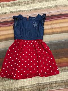 Gymboree Red and blue dress