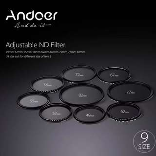Andoer Variable ND Filter - 55mm