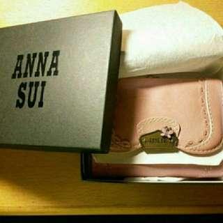 🈹️全新ANNA SUI粉色真皮銀包